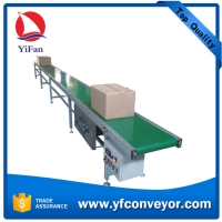Buy cheap Motorized Movable PVC Aluminum Frame Belt Conveyor product