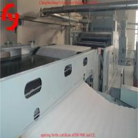 Buy cheap 5500mm Cross Lapper Non Woven Machinery With PLC Touch Screen product