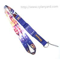 Buy cheap Full color print logo anniversary promotion lanyard with dyed color ABS plastic buckle, from wholesalers