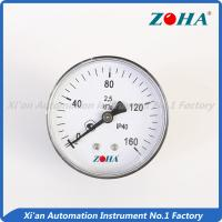 Buy cheap Back Connection General Pressure Gauge With Aluminum Black Pointer 63mm from wholesalers