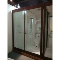 Buy cheap Matt Chrome Complete Shower Enclosures 120 X 150 X 210cm Complete Shower Cabins from wholesalers