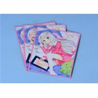 Buy cheap 60 Pcs / Packing , White - Haired Girl Anime Card Cover Protector For Trading Card Sleeves from wholesalers
