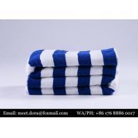 Buy cheap White Blue Cotton Hotel 30X60 Towels Pool Towels Beach Towels from wholesalers