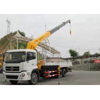 Buy cheap Dongfeng LHD 6x4 15 Ton Crane Truck , Mobile Crane Truck With Telescopic Boom from wholesalers