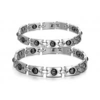 Buy cheap stainless steel radiation protection couple bracelet wholesale from wholesalers