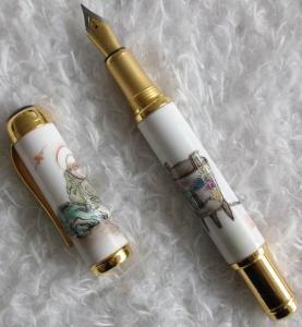 Blue and white enamel & copper Porcelain Paint Pens pentel with  decos LY1016-2 Manufactures
