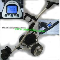 Buy cheap LCD golf trolley big LCD Screen golf buggy high-end sports products from wholesalers