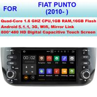 Buy cheap DDR III 1GB RAM 16GB Flash Fiat Punto Car Stereo Radio GPS Navigation 2010+ NO DVD from wholesalers