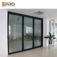 Buy cheap Powder Coated Bullet Proof Aluminium Sliding Glass Doors Customized Size from wholesalers