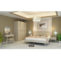 Buy cheap Light Walnut Color Simple Bedroom Sets Eco - Friendly MDF With Melamine Material from wholesalers