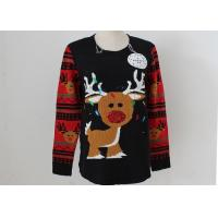 Buy cheap OEM Unisex Embroidery Knitting Ladies Ugly Christmas Sweater With LED Lights from wholesalers