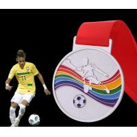 Wholesale Customfootball  medal and medallion ,   wholesales in sport medal unique medals  for souvenir event  ,Soft enamel medals from china suppliers