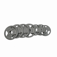 Buy cheap Plating Coated 5kg Barbell Plates , Dia395mm Cast Iron Gym Plates from wholesalers