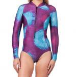 Buy cheap One - Piece Long Sleeve Surf Rash Guard Bikini Leg Printing UV Protection from wholesalers