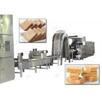 Buy cheap Gas Heating Wafer Biscuit Production Line , Wafer Snack Biscuits Making Machine 110 Kg / H from wholesalers