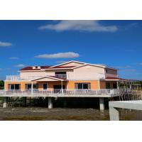 Buy cheap Lightweight Prefab Steel House Over The River With Asphalt Shingle Tile Cement Board Wall from wholesalers