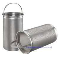 Buy cheap Square Hole 304 316 Stainless Steel Woven Wire Mesh Screen Perforated Filter Tube from wholesalers