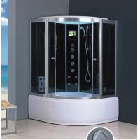 Buy cheap 1000*1000*2150mm Acrylic Tray Two persons Polished Tempered Glass shower and steam room from wholesalers