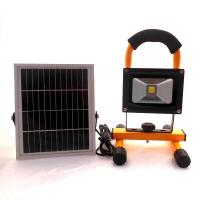 Solar powered Portable Rechargeable high brightness 10w LED Flood Light LED working lamp Manufactures