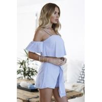 Buy cheap 2017 New Leisure Suit Stripe Halter Straps Gay Shorts Two Piece Set Women Dress from wholesalers