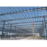 Buy cheap Customized Fireproof Rock Wool Composite Sandwich Panels Prefabricated Structure Steel Warehouse from wholesalers