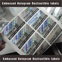 Wholesale Tamper Evident Destructible Vinyl Laser Labels High Security With Custom Pattern from china suppliers