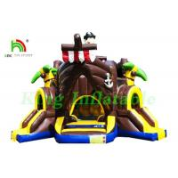 Buy cheap Outdoor Commercial Bounce Houses Inflatable Pirate Boat With Slides / Air Guns from wholesalers