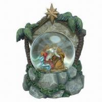 Buy cheap Polyresin Religious Snow Globe and 3-D Decoration, Music, Inner Rotation and Light from wholesalers