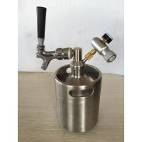 Buy cheap Homebrew Stainless Steel 304 Beer Keg 2L 3.6L 4L 5L 10L Mini Draft Beer Growler product