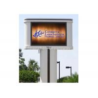 Buy cheap 1R1G1B PH16 Outdoor Advertising LED Display with Single Pole from wholesalers