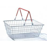Buy cheap Grocery Store 19L Hand Shopping Basket Zinc Coated Silver Metallic Storage from wholesalers