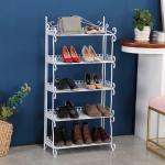 Buy cheap H269 Home Space Saving Metal Mesh Shoe Rack Modern Style Standing Shelf from wholesalers