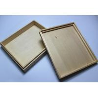 Wholesale Custom Logo Wooden Wedding Photo Album Box , Wooden Photo Box With Hinged Lid / Lock from china suppliers