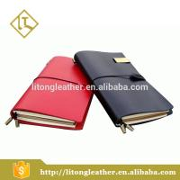 Buy cheap Professional manufacturer cheap plain oil leather office Strap Clasp notebook from wholesalers