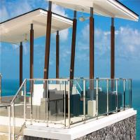 Buy cheap Good quality Rectangular Stainless Steel toughened glass from wholesalers