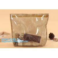 Buy cheap Custom transparent clear Pvc Cosmetic Pouch,Printed Vinyl Travel Cosmetic Bag Zipper PVC Pouch Bag,Ziplock Pouch with Lo from wholesalers
