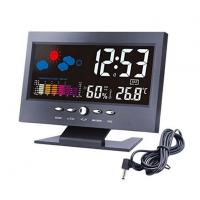 Wholesale Multificational Colorful LED Display Screen Digital Weather Station Clock for Home Bedroom with Backlight from china suppliers