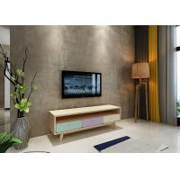 Buy cheap Three Drawer Solid Wood and E1 Melamine TV Stand Corrosion Resistant product