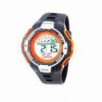 Buy cheap Fashionable Gents' Sports Wristwatch with 1.5-second/24-hour Time Error from wholesalers