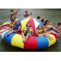 Buy cheap 8 - 10 Person Inflatable Disco Boat Motorized Toys Semi Boat , Water Spinner Gyro from wholesalers
