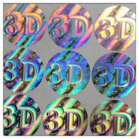 Buy cheap Custom die-cut hologram printer labels 3D security label,Anti-fake 3D hologram label,security custom hologram sticker from wholesalers
