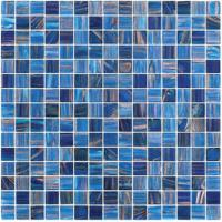 Deep sea blue glass mosaic mix pattern special design for bathroom project