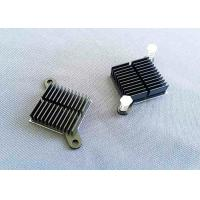 Buy cheap Black Anodized Cnc Machined Components Aluminum Cooling Fin Radiator Heat Sink from wholesalers
