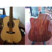 Wholesale 41inch OEM  High-end whole solidwood vintage cutaway electric acoustic guitar/western guitar steel string sale-TP-AG80 from china suppliers