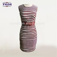 Buy cheap Stripe plain cotton designs office sexy woman korean fashion summer long dress western dresses names for ladies from wholesalers