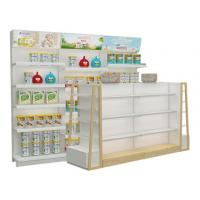 Wholesale Supermarket and grocery display shelves natural design baby shop display stands with led advertising from china suppliers