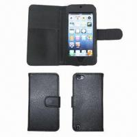 Buy cheap Book Style Leather Cases/Covers for iPod Touch 5, Inside with Card Slot from wholesalers
