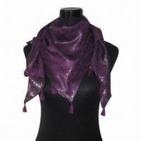 Wholesale Cashmere-like Scarf, Customized Specifications are Accepted, Measures 67x178 and 10x2cm from china suppliers