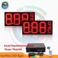 China OUTDOOR WATERPROOF REMOTE CONTROL LED GAS PRICE SIGN DIGITAL CHANGER on sale