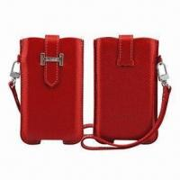 Buy cheap Leather Case for iPhone, with Fashionable Design and Gift Box, Strong Keychain, MOQ is 200pcs from wholesalers